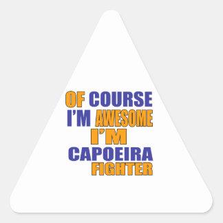 Of Course I Am Capoeira Fighter Triangle Sticker