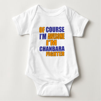 Of Course I Am Chanbara Fighter Baby Bodysuit