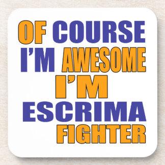 Of Course I Am Escrima Fighter Coaster