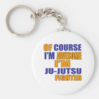 Of Course I Am Ju Jutsu Fighter Basic Round Button Keychain