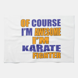 Of Course I Am Karate Fighter Kitchen Towel