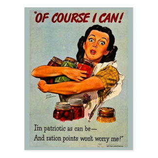Of Course I Can! Vintage Retro World War II Postcard
