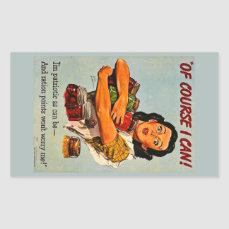 Of Course I Can! Vintage Retro World War II Sticker