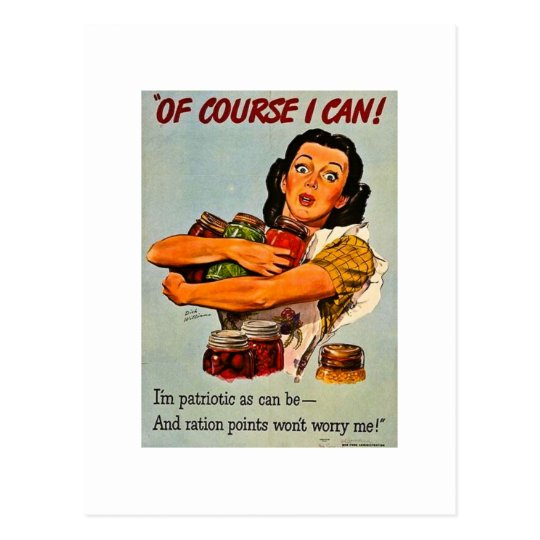 Of Course I Can! Vintage World War Two Postcard