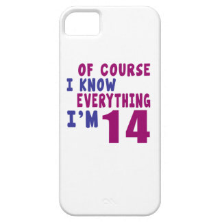 Of Course I Know Everything I Am 14 Case For The iPhone 5