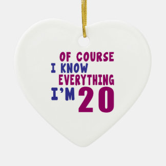 Of Course I Know Everything I Am 20 Ceramic Heart Ornament