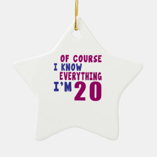 Of Course I Know Everything I Am 20 Ceramic Ornament