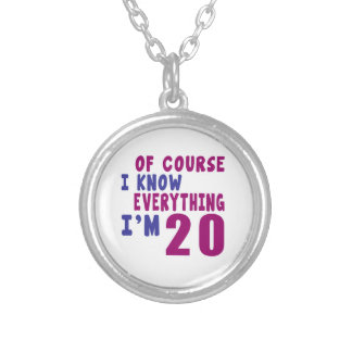 Of Course I Know Everything I Am 20 Silver Plated Necklace