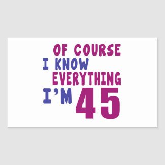 Of Course I Know Everything I Am 45