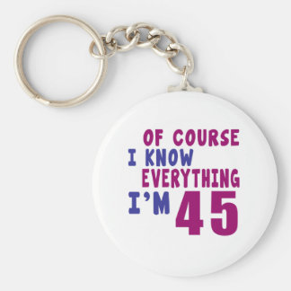 Of Course I Know Everything I Am 45 Basic Round Button Keychain