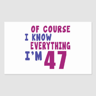 Of Course I Know Everything I Am 47 Sticker