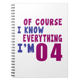 Of Course I Know Everything I Am 4 Notebook