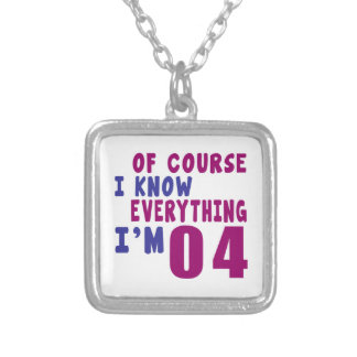 Of Course I Know Everything I Am 4 Silver Plated Necklace