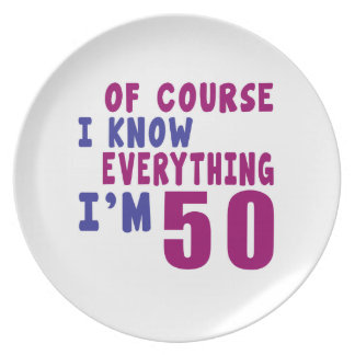 Of Course I Know Everything I Am 50 Plate