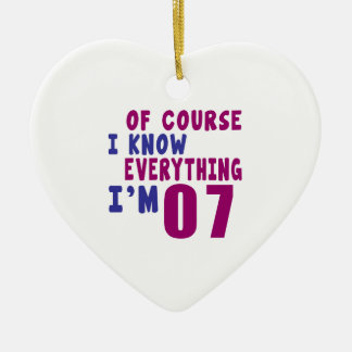 Of Course I Know Everything I Am 7 Ceramic Heart Ornament