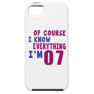 Of Course I Know Everything I Am 7 iPhone 5 Case