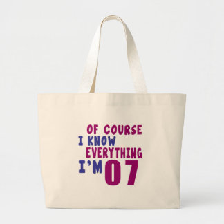 Of Course I Know Everything I Am 7 Large Tote Bag