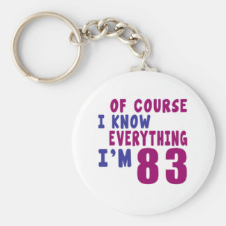 Of Course I Know Everything I Am 83 Basic Round Button Keychain