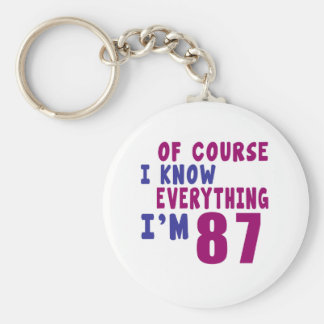 Of Course I Know Everything I Am 87 Basic Round Button Keychain