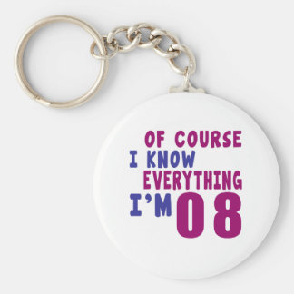 Of Course I Know Everything I Am 8 Basic Round Button Keychain