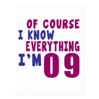 Of Course I Know Everything I Am 9 Postcard