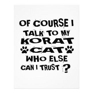OF COURSE I TALK TO MY KORAT CAT DESIGNS LETTERHEAD