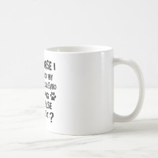 OF COURSE I TALK TO MY MINIATURE AMERICAN ESKIMO D COFFEE MUG