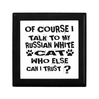 OF COURSE I TALK TO MY RUSSIAN WHITE CAT DESIGNS GIFT BOX