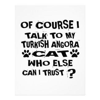 OF COURSE I TALK TO MY TURKISH ANGORA CAT DESIGNS LETTERHEAD