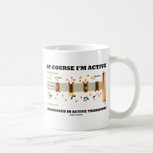 Of Course I'm Active I'm Engaged Active Transport Mugs