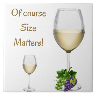 Of Course Size Matters Kitchen Tile