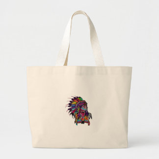 OF EARTH COLORS LARGE TOTE BAG