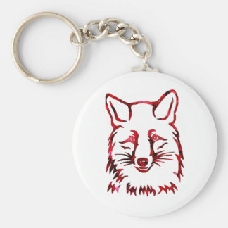 Of foxes and roses keychain