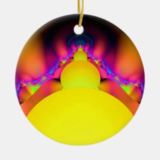 Of Golden Eggs Round Ceramic Ornament