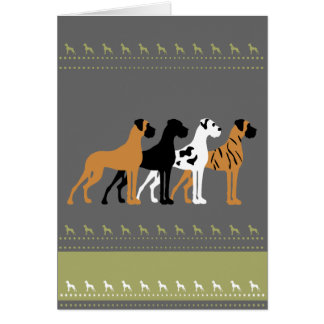 Of great dane basic colors card