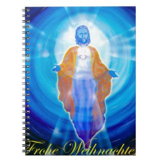 Of Jesus glad Christmas Spiral Notebook