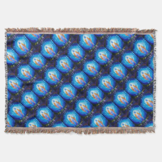 Of Jesus glad Christmas Throw Blanket