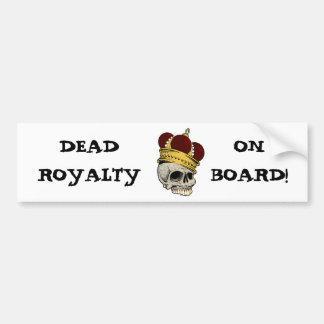 OF KINGS AND FINER THINGS (skull & crown) ~ Bumper Sticker