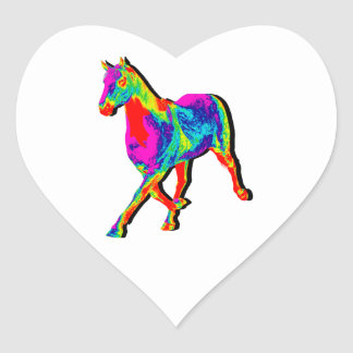 OF MANY COLORS HEART STICKER