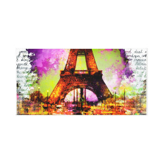 Of Paris Eiffel Tower, Eiffel Tower, Sketchbook Canvas Print