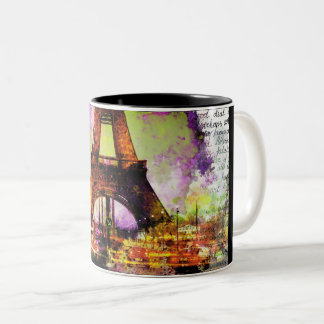 Of Paris Eiffel Tower, Eiffel Tower, Sketchbook Two-Tone Coffee Mug