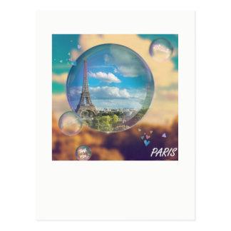 Of Paris Eiffel Tower multicolored La route Eiffel Postcard
