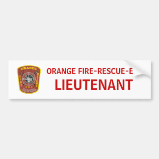 OFD LIEUTENANT BUMPER STICKER CAR BUMPER STICKER