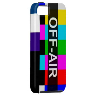 Off Air Tv Signal after hours graphic. iPhone 5 Covers