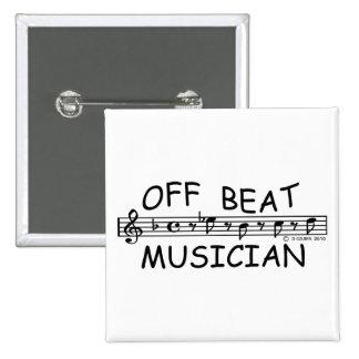 Off-Beat Musician Pinback Button