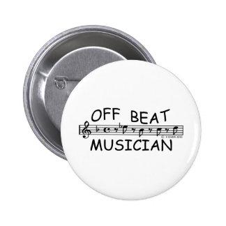Off-Beat Musician Buttons