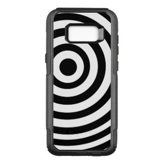 Off Center Black and White Target OtterBox Commuter Samsung Galaxy S8+ Case