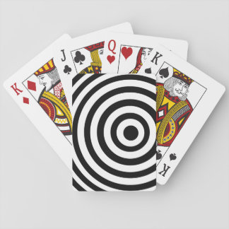 Off Center Black and White Target Poker Deck