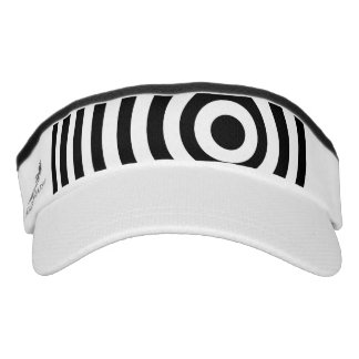 Off Center Black and White Target Visor