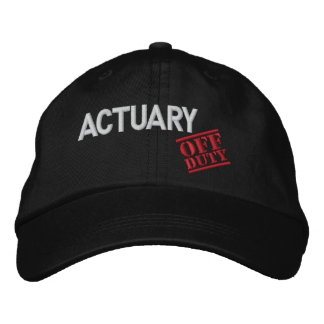Off Duty Actuary Embroidered Hat